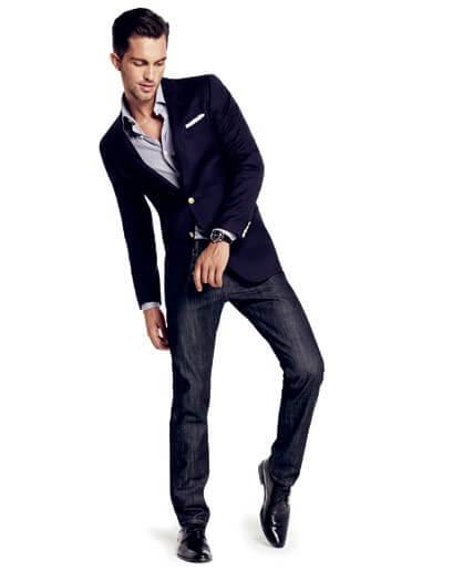 siyah jean blazer